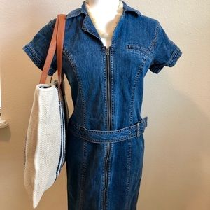 Tommy Hilfiger Short Sleeve Denim Dress